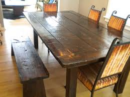 attractive rustic kitchen table with bench kitchen table new