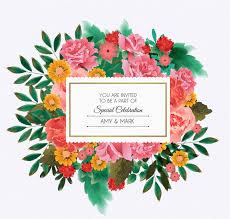 beautiful floral wedding invitation card epin u2013 free graphic