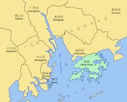 Yellow River Map Pearl River Delta Area U2022 Mapsof Net