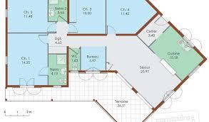 plan plain pied 5 chambres maison moderne plain pied 5 chambres con plan maison contemporaine