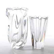 Antique Lead Crystal Vase Pair Of Vintage Lead Crystal Vases Ebth