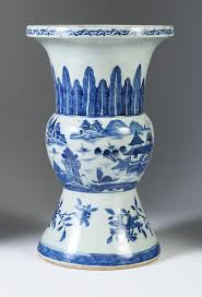 28 Light Blue And White Igavel Auctions Chinese Blue And White Porcelain Gu Form Vase