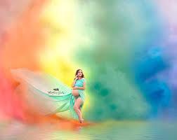 Digital Backgrounds Rainbow Backdrop Etsy