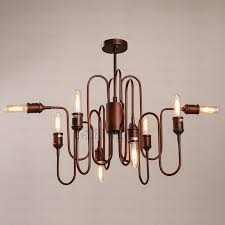 Industrial Lighting Chandelier Country Style Industrial Chandelier Lighting E26 E27