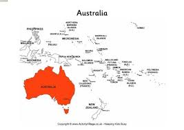 map of australia and oceania countries and capitals australia on map of oceania