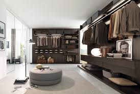 white brown open design walkin closet interior design feats dark