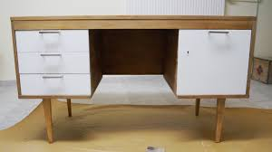 mid century desk makeover
