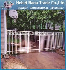 white wrought iron fence for garden backyard wrought iron