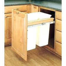kitchen cabinet trash pull out cabinet trash can pull out vegelfamily info