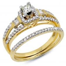 gold wedding set engagement rings and engagement sets
