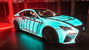 lexus hoverboard commercial 2015 lexus unveils an electro luminescent rc f coupe video