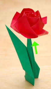 Paper Roses How To Fold A Paper Rose With Pictures Wikihow