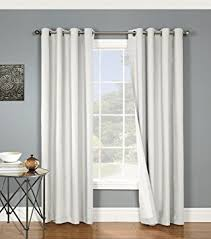 White Cotton Curtains Amazon Com Nantucket Brushed Twill Cotton Grommet Thermalogic