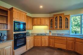 oak kitchen cabinets yellow walls attachment what color kitchen floor with light oak cabinets