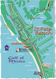 Clearwater Beach Florida Map by 2007 Race Map 4th Annual Maratho