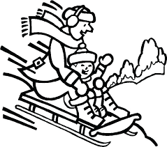coloring pages about winter winter themed coloring pages sledding coloring pages free printable