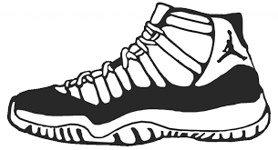 basketball shoes coloring pages getcoloringpages with regard to