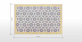 teppich 300x300 trio teppich 160 x 230 cm grau und senfgelb made com