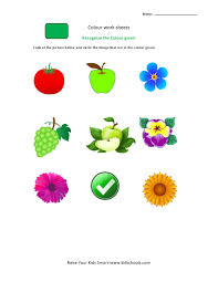 best ideas of color recognition worksheets on download