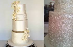 sequins wedding cake by sweet disposition cakes left glitter
