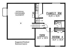 small house floor plans with basement majestic looking small house plans with basement cottage plan with