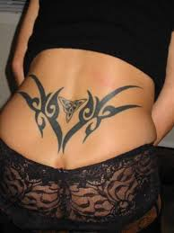 full lower hip tribal tattoo designs for beautiful young girls