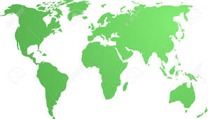 Outline World Map by Map Of The World Illustration Simple Outline Gradient Colors
