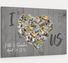 i love us photos of us collage canvas custom personalized wall