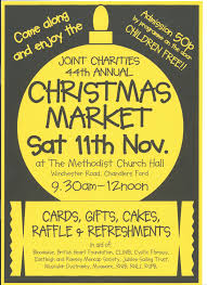 chandlers ford joint charities christmas market on 11 november at