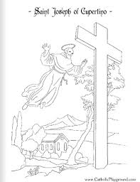 saint coloring page saint joseph of cupertino catholic coloring page 2 feast day is