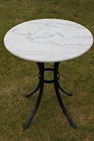 Outdoor Bistro Table White Marble Top Bistro Table Ideal For The Patio Garden Or