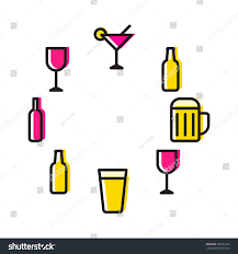 alcohol vector alcohol set beer cup wine glass stock vector 391083163 shutterstock