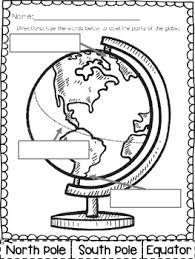 label the globe freebie kindergarten first grade standards