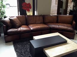 Brown Leather Sofa With Chaise Living Room Cozy Living Room Design With Brown Leather Sectional