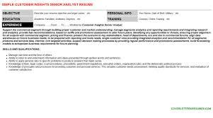 customer insights senior analyst cover letter u0026 resume