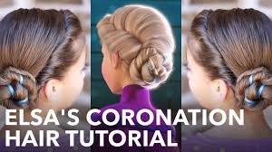 Easy Country Hairstyles by Elsa U0027s Frozen Coronation Hairstyle Tutorial Youtube