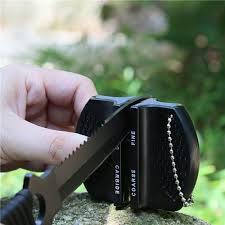 mini ceramic rod tungsten steel camp pocket kitchen knife
