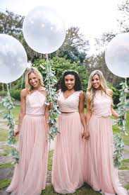 Blush Chiffon Maxi Skirt Skylar Skirt In Tulle Bridesmaid Separates Revelry