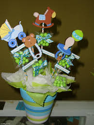 love this for a centerpiece idea but would replace baby items on