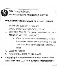 Authorization Letter Sample For License Renewal 2016 business permit renewals and annual filing get with d act