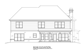 4 Bedroom Two Storey House Plans Two Story 4 Bedroom Home Plan With 3 Car Garage