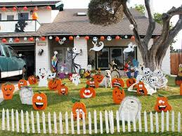Awesome Halloween Decorated Houses by Wonderful Ideas Of Halloween Garden Decorations Decorating