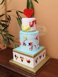 Origami Wedding Cake - origami koi fish wedding cake cakecentral