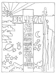 coloring pages for kids by mr adron believe on the lord acts 16