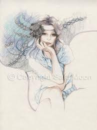 original sara moon pencil drawing