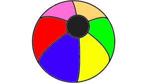 learn colours with beach ball coloring page for kids learning