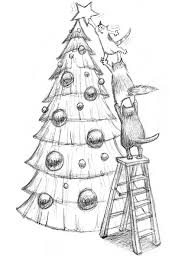 christmas tree sketched out