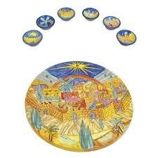 seder set jerusalem seder set seder matza plates yair emanuel