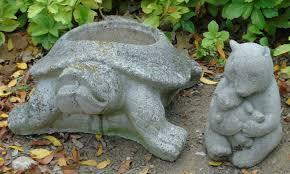 Turtle Planter Concrete Garden Statues Bear U0026 Turtle Planter