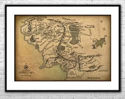 Lord Of The Rings Decor Lotr Map Etsy
